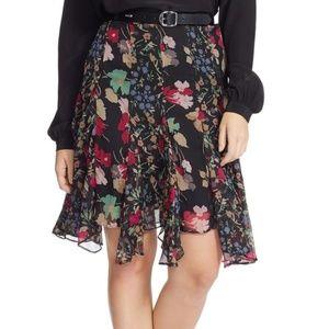NEW Lauren Ralph Lauren Floral Georgette Skirt 18W